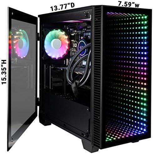 CUK Continuum Micro Gamer PC (Intel i7-9700KF with Liquid Cooling, 32GB RAM, 1TB NVMe SSD + 2TB HDD, NVIDIA GeForce RTX 2070 Super 8GB, 600W Gold PSU, Windows 10 Home) Gaming Desktop Computer 6