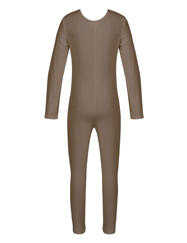Yeahdor Kids Girls Long Sleeves Full Body Catsuit Unitard Ballet Dancewear Gymnastics Leotard Bodysuit Outfit