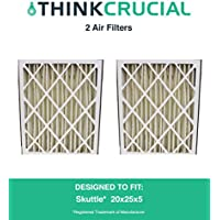 2 Replacements for Skuttle 20x25x5 000-0448-003 Pleated Furnace Air Filter, MERV 8, by Think Crucial