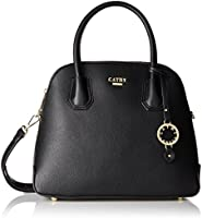 Cathy London Women's Handbag, Material- Syntethic Leather, Colour- Black