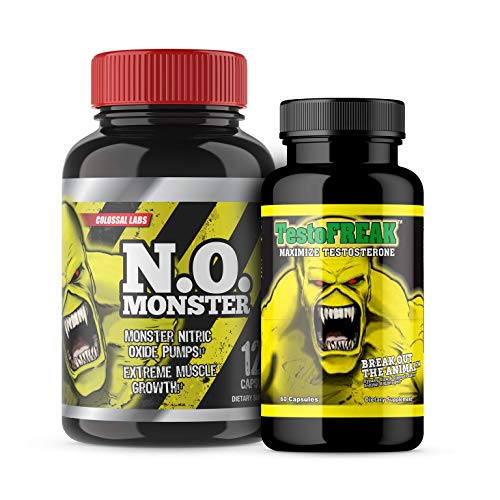 ⧫ #1 Rated Nitric Oxide Product. Colossal Labs N.O. Monster Stack, Powerful Pumps and Enhance Muscle Gains