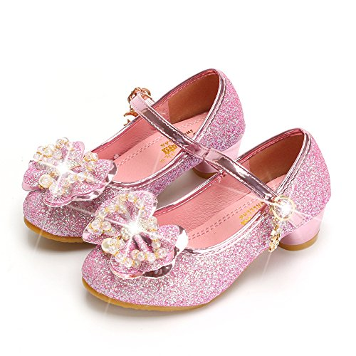 Plan B Children's Sequins Shoes Wedding High Heels Dress Party Princess Shoes - Dyeable Childrens Shoes
