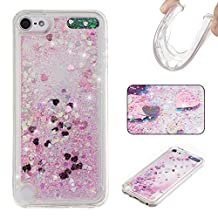 Touch 5 Case, Touch 6 Case, Chinstyle Ipod Touch 5 5th / 6th Generation Dynamic Liquid Quicksand Case Bling Sparkle Shining Glitter Soft Clear TPU Gel Protective Cover (Pink)