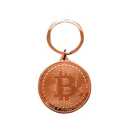 uyhghjhb Llavero de Bitcoin Llavero conmemorativo de la Moneda Llavero del Coche Llavero Bronce