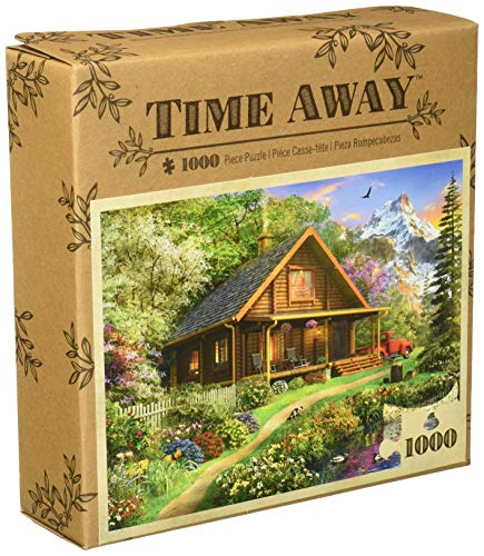 MasterPieces Time Away Mountain Retreat - Log Cabin 1000 Piece Jigsaw Puzzle by Dominic Davidson