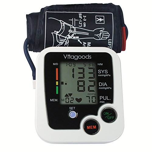 Vitagoods Blood Pressure Monitor White, Black