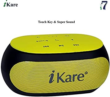 iKare i7 Wireless Bluetooth Mobile/Tablet Speaker Yellow  PC Speakers