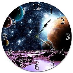 Sugar Vine Art 10.5 BEAUTIFUL GALAXY PHOTO CLOCK - ASTRONOMY CLOCK - Large 10.5 Wall Clock - Home Decor Clock