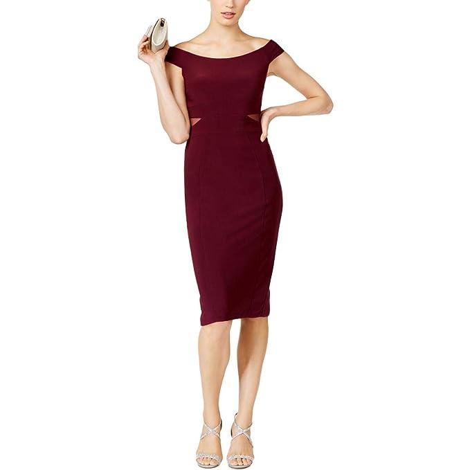 707c0656d313 X by Xscape Womens Off-The-Shoulder Knee-Length Cocktail Dress Purple 6
