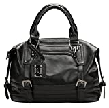 Juilletru Black Women Tote Bags PU Leather Handbags Top Handle Vintage Purse Crossbody Shoulder Bag