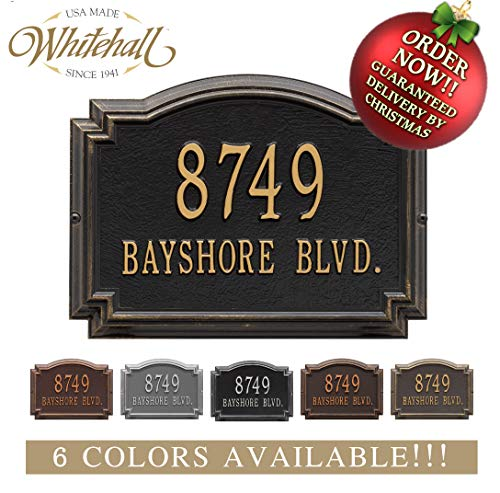 Cast Metal Address Sign. The Williamsburg Address Plaque Order by 12PM PST, DEC. 16TH and GET IT for ()