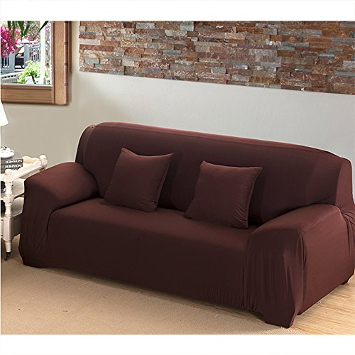 1 Seater Sofa -  Mobo Coffee Sofa Cover - 1-Piece Slipcover for 74-90 Inches 3 Seater - Stretch Elastic couch cover with Polyester Spandex Fabric