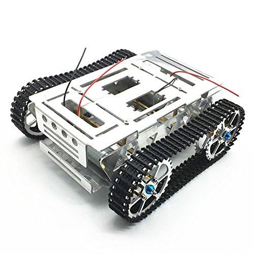 apresurado a ver VIDOO Aleación De Aluminio Bricolaje Bricolaje Bricolaje Seguimiento Robot RC Coche del Tanque De Chasis con Sistema De Orugas  elige tu favorito