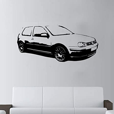 Zzlfn3lv Diy Car Golf Gti Wall Art Decor Giant Sticker For Children S Bedroom Boys Living Room Bedroom Decoration Wall Picture 130 X 58 Cm Amazon De Kuche Haushalt