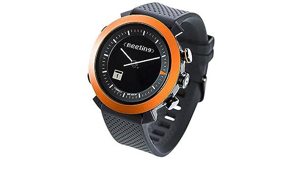 COGITO CLASSIC LCD Negro, Naranja reloj inteligente: Amazon ...