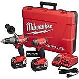 Milwaukee 2899-22 M18 FUEL 2-Tool Combo Kit (Surge Hydraulic Driver + Hammer Drill)