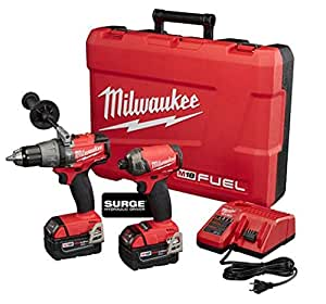 Milwaukee 2899-22 M18 FUEL 2-Tool Combo Kit (Surge Hydraulic Driver + Hammer Drill)