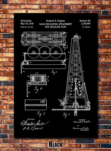 Oil Rig Patent Print Art 1916