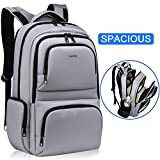Kuprine Water Resistant Slim Business Computer Laptop Backpack for Women Men Lightweight College Backpack Fits Most 15.6 Inch Laptops and Tablets Anti Theft Travel Backpack