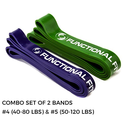 Functional Fitness Exercise Resistance Training Band, 10 Different Tension Band Sets, 5-200 lbs. of Resistance for Mobility, Stretching, Pilates, Assisted Pull-Ups, Chin Ups, Powerlifting and (200 Cross)