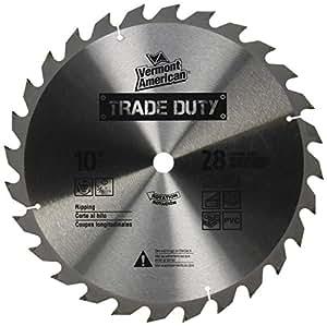 Vermont American 26483 5/8-Inch Arbor 10-Inch 28 Tooth Carbide Trade Duty Circular Saw Blade