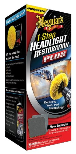 Meguiar's G1900K Headlight and Clear Plastic Restoration Kit (Headlight Restore Buffing Kit compare prices)