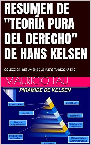 Amazon Com Resumen De Teoría Pura Del Derecho De Hans