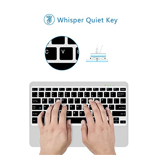 FENIFOX Bluetooth Keyboard,Metal Whisper-Quiet Keys with 6500mAh Power Bank Charger for Mobile Phone Tablet Ipad Surface Cellphone by FENIFOX (Image #5)
