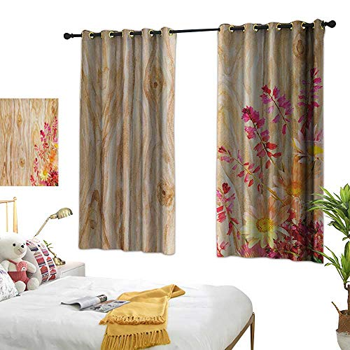 Superlucky Drapes for Living Room,Rustic,55