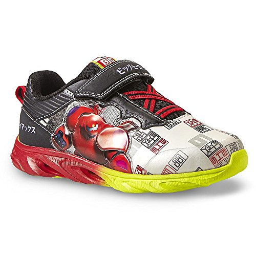 Disney Big Hero 6 Black White Red Sneaker (11 M US Little Kid)