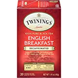 Twinings of London Decaffeinated English Breakfast Tea