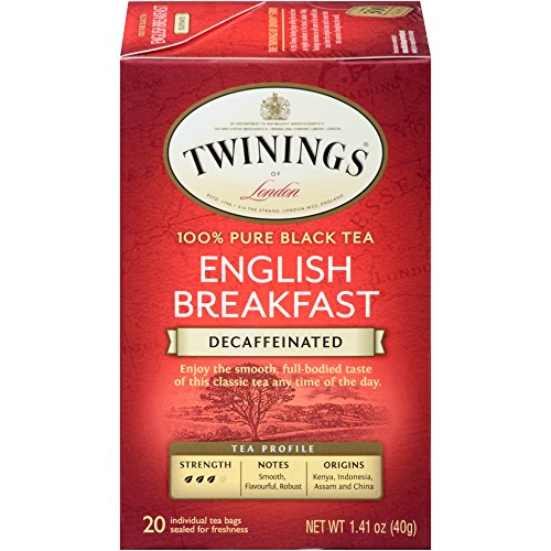 Twinings of London Decaffeinated English Breakfast Tea, 20 Count (Pack of 6) ()
