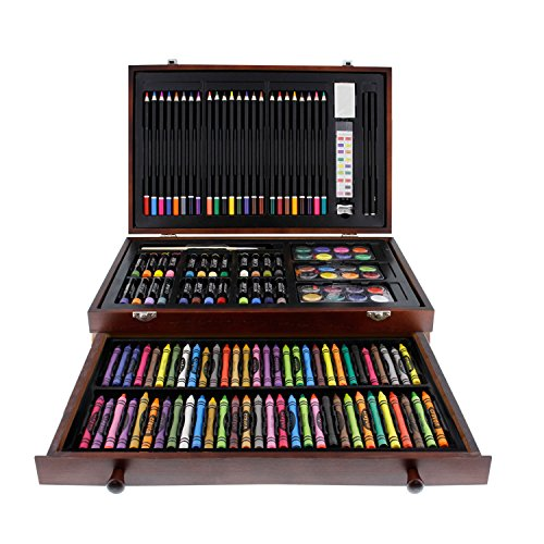 US Art Supply 142 Piece Mega Artist Creative Drawing Wood Box Set