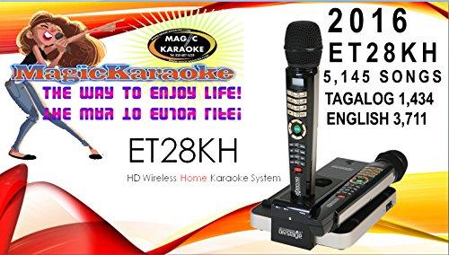NEW 5,145 SONGS MIX TAGALOG ENGLISH 2016 ET28KH MAGIC SING ONSTAGE KARAOKE MIC