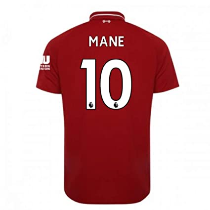 3577caeb7 Image Unavailable. Image not available for. Color  2018-2019 Liverpool Home  Football Soccer T-Shirt Jersey (Sadio Mane 10)