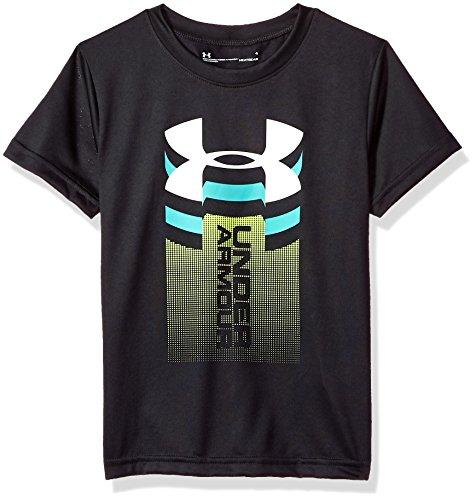 1 Logo Short Sleeve T-shirt - Under Armour Little Boys' Rising Big Logo Short Sleeve T-Shirt, Black, 5