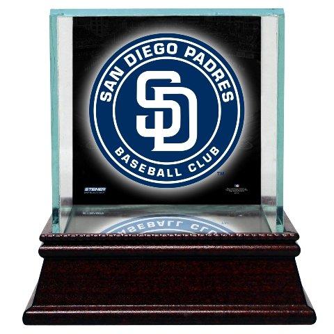 MLB San Diego Padres Glass Single Baseball Case with Team Logo - Glass Case Single Baseball