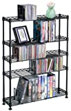 Maxsteel 5 Tier Steel Wire Shelving for 275 CD/152 DVD/BluRay/Games Media Black