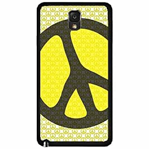 Hippie Peace on Hippie Sign Plastic Phone Case Back Cover Samsung Galaxy Note III 3 N9002 hjbrhga1544