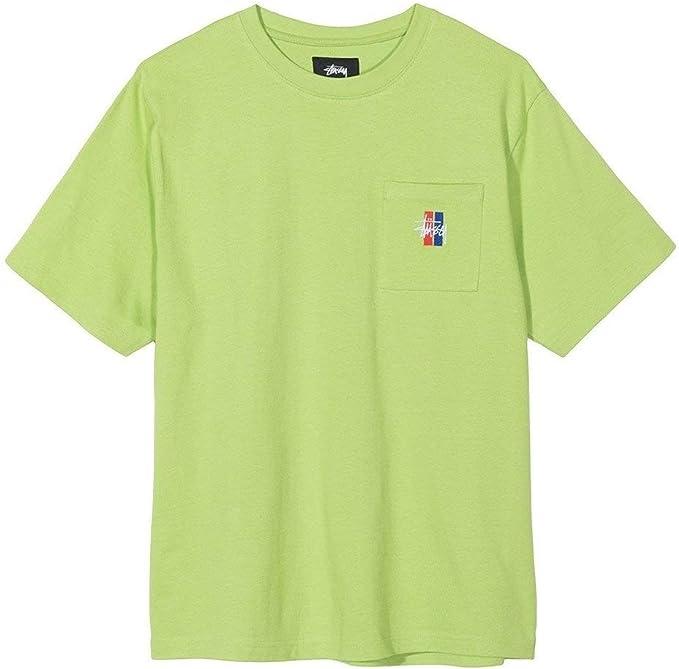 Stussy 2 Bar Stock Crew Camiseta Hombre Verde M (Medium): Amazon.es: Ropa y accesorios