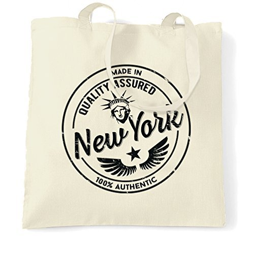 Made in New York State Empire State Central Park Distressed Niagara Falls Long Island Harbour Birthday Present Novelty Design Shopping Tote Bag by Valentine - New Falls Niagara In York Shopping