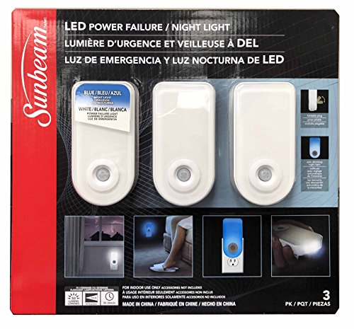 Sunbeam LED Power Failure / Night Light (Pack of 3)