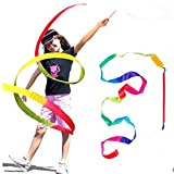 ZeroShop(TM) 3 Pcs Dancing Ribbon Stunt Streamer in Rainbow with Stick for Women and Kids & Child(Random Color)