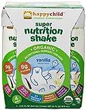Happy Child Organic Super Nutrition Shake, Vanilla, (4 Count, 8.25 Fl Oz Each)