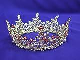 Floral Rhinestone Crown #22