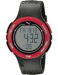 Unisex PU911211001 Puma Touch Digital Display Quartz Black Sport Watch