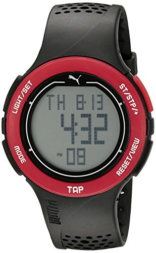 PUMA Unisex PU911211001 Puma Touch Digital Display Quartz Black Sport Watch (Watch Puma Sports Women)