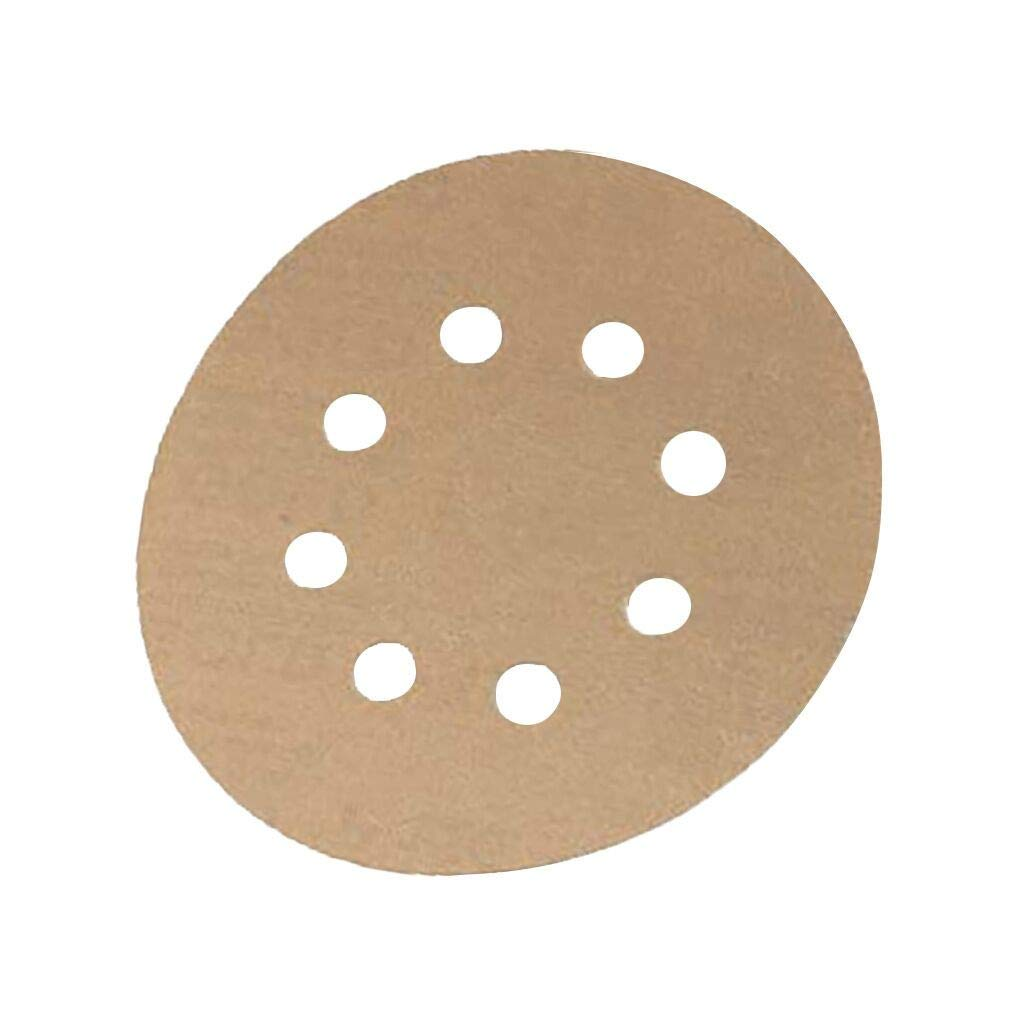 50-Pack Supplies for Kitchen Easter St Patricks Day Easter 5-Inch 8-Hole 320-Grit Dustless Hook and Loop Sanding Discs