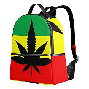DEYYA Marijuana Kids School Backpacks for Boys Girls Bookbag