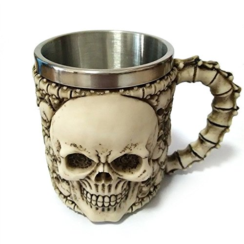 coffled-skull-stainless-steel-mugrealistic-resin-skull-coffee-mug-for-bar-or-fashionable-decoration
